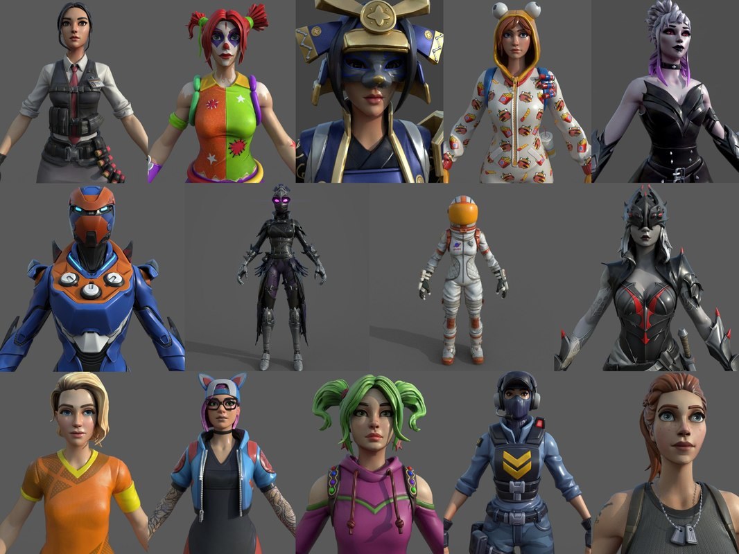 3D fortnite-characters emote animations model
