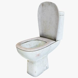 dirty toilet pan 3D model