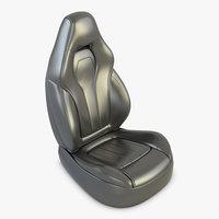 3D leather car seat model