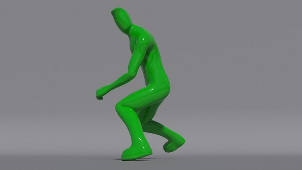 green dude rigged model