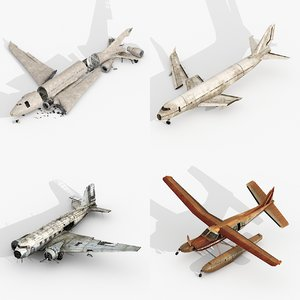 3D damage airplanes model