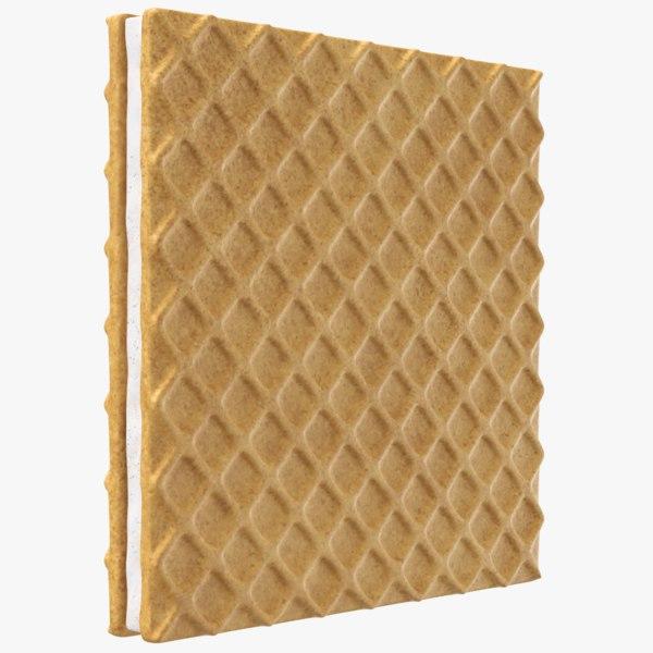biscuit modeled 3D model