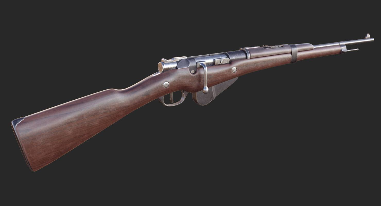 3D french berthier rifle