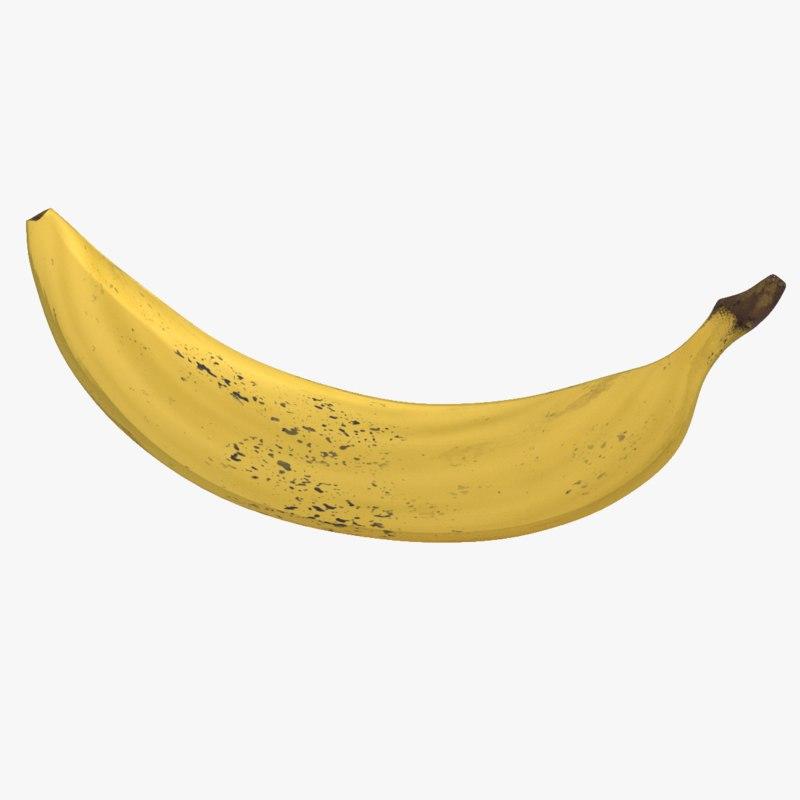 3D realistic banana fruit