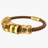 3D jewelry bracelet charm model