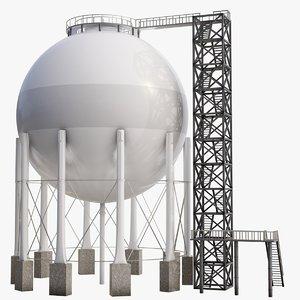 3D storage gas model