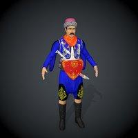 zeybek characters anatolia 3D model