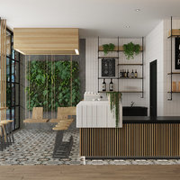 modern coffee shop 3D model