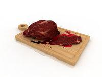 steak meat 3D