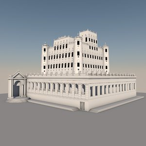 3D seiyun palace kathiri model