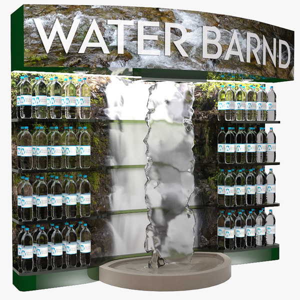 3D model water sale stand