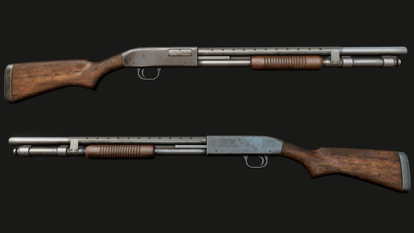 3D shotgun m590 pbr