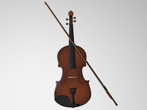 3D violin music instrument
