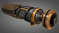vintage wooden lightsaber model
