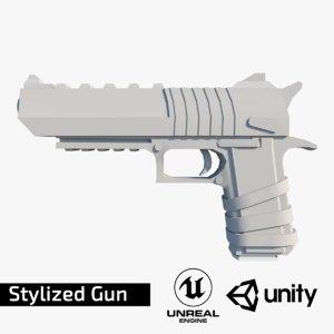 3D stylized gun model