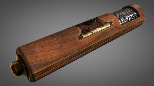3D model vintage gun