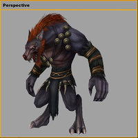 monster - claws wolf 3D model
