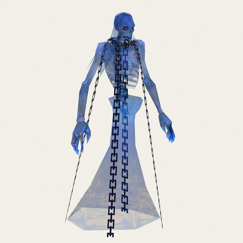 blue ghost monster 3D