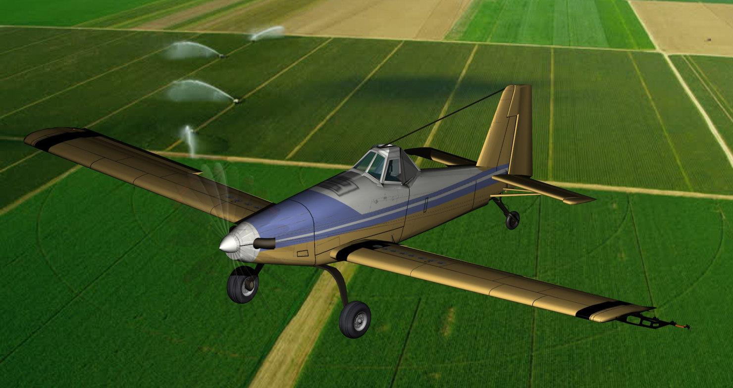 3D model crop duster