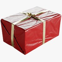 Wrapped Christmas Gift Box With Bow 330x500x245mm