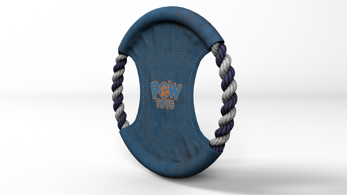 3D dog toy rope