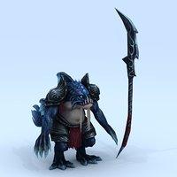 monster - catfish commandant 3D model