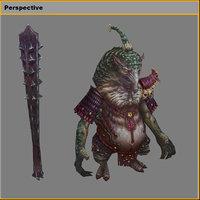 monster - armadillo fine 3D model