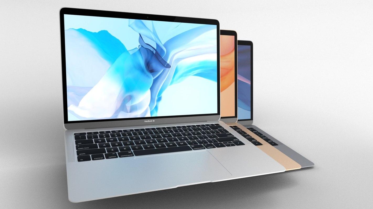macbook air 2018 colors 3D