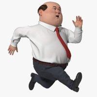 3D office guy cartoon model