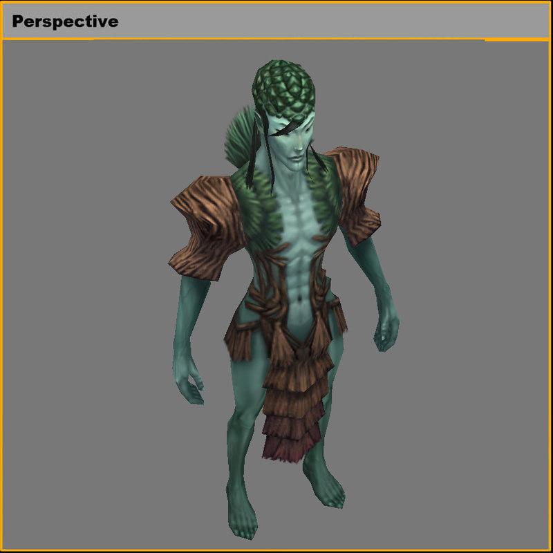3D model monster - loneliness