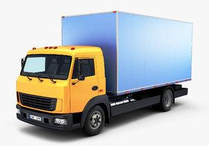 generic truck box 3D model