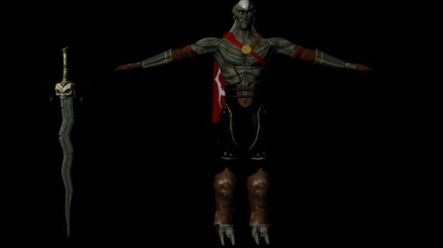 kali rigged dynamics 3D model