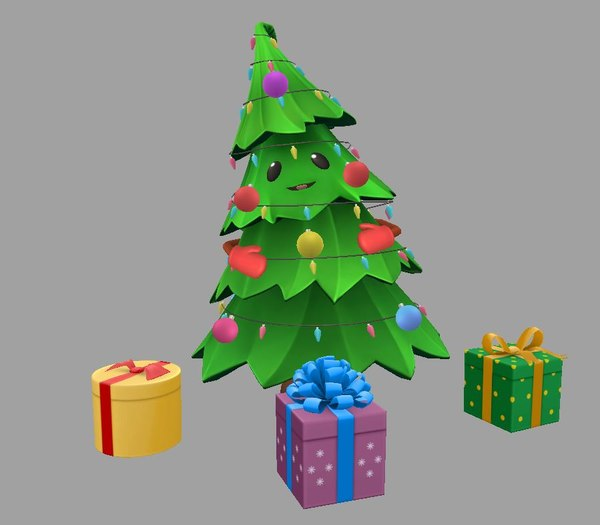 christmas tree cartoon ar model