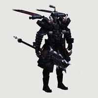 3D model monster - soul templar