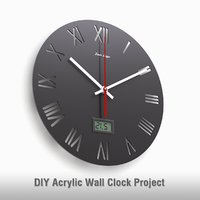 - wall clock acrylic 3D model