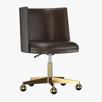 3D kinney leather desk chair