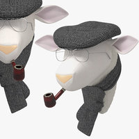 3D soft sheep rene model