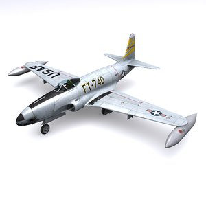 3D model lockheed shooting star f-80
