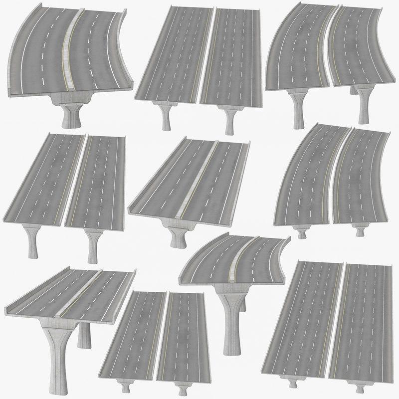 3D lane raised highways