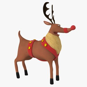 cartoon reindeer animation 3D model