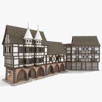 medieval building 3D