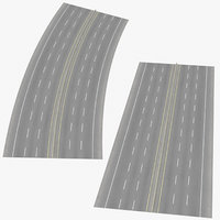 6 lane highways way 3D model
