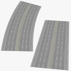6 lane highways way 3D model