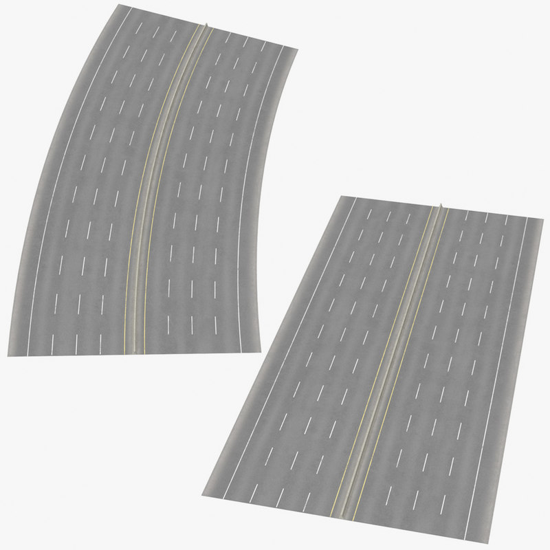 3D 8 lane highways way
