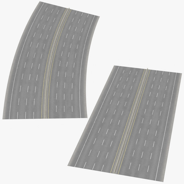 3D 8 lane highways way