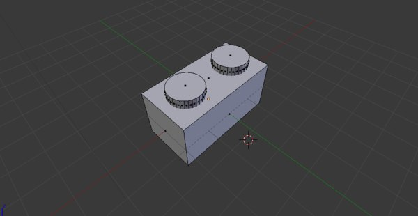 3D lego 2x2