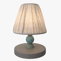 3D lantlig lamp