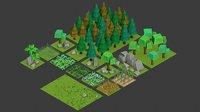 vegetation build games 3D model