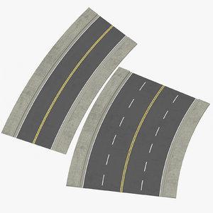 lane streets 22 5 3D model