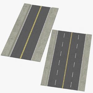 lane streets straight 3D